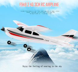 Wholesale Airplane Cessna - New WLtoys F949 3CH RC Airplane Cessna Skymaster Pro 2.4G RC Fixed Wing Plane Electric flying Aircraft
