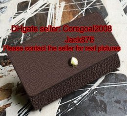 Wholesale Damier Ebene - 6 KEY HOLDER case L N62662 M62630 N61745 N62630 Damier Ebene Graphite Canvas M61695 France luxury designer Genuine Leather small short PURSE