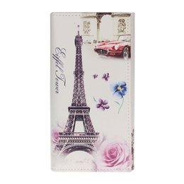 Wholesale Eiffel Tower Coin Bag - Wholesale- Hot Sale 2016 New Fashion Eiffel Tower Rose Women Purse Clutch Bag Card Holder Flower Pattern Female Long Wallets Bags Handbags