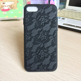 Wholesale Iphone Case Luxury Lace - New for iphone 7 6S plus Leather camouflage Lace luxury cell phone cases TPU+PC soft silicone with Plating button