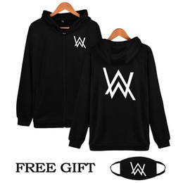 Wholesale High Quality Women Clothes - Wholesale- Hip Hop Streetwear Alan Walker DJ Hoodies High Quality Hooded Sweatshirt Men & Women Zipper Hoodie Casual Loose Brand Clothing