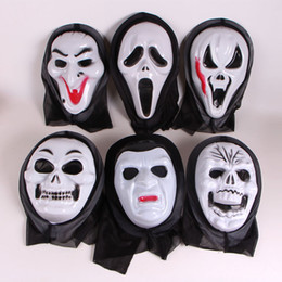 Wholesale Fun Games Men - 10 Pc Scary Ghost Face Scream Cosplay Black Mask Halloween Mask Masquerade Party Skull Horror Christmas Fun Festive Game Gifts