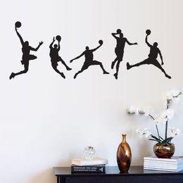 Wholesale Modern Wall Art Sale - Hot sale Basketball Men Boys Wall Stickers Sports Wallpaper Wall Decals Art Kids Room Home Decorations