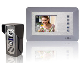 Wholesale Video Door Phone Hands Free - Wholesale- 4 inch LCD Display Video Door Phone Super Thin Outdoor Intercom Hands-free Video Doorbell