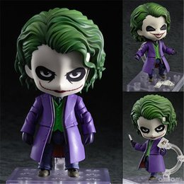 Wholesale Hot Toys Action - LilyToyFirm Hot Sale Batman Action Figure Nendoroid The Joker Figures 10cm Nendoroid 566# Bat-man Model Toys PVC Doll Dark Knight Rises Toy