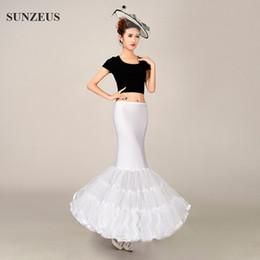 Wholesale Mermaid Tulle Bottom Dress - Mermaid Underskirt Petticoat for Wedding Dresses Accessories for Bridal Puffy Bottom Tiers Tulle Crinolinas Para Boda