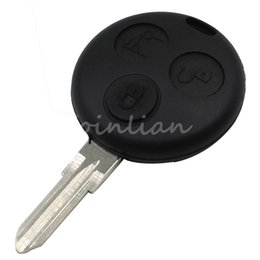 Wholesale Smart Car Fortwo - car Replacement Uncut Blank Blade Key Case Shell Fit For Mercedes B-enz SMART Fortwo 3 Buttons Free Shipping