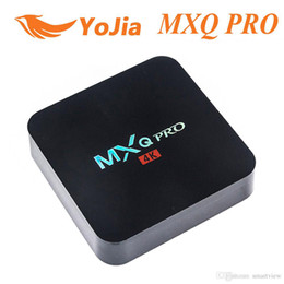 Wholesale Quad Hd - MX2 MXQ PRO Quad Core Amlgoic S905W Android 7.1 TV BOX With Customized KD 17.4 TV Box 4K Media Player