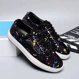 Wholesale 75 B - High Quality Genuine Black Leather Men Shoes Fashion Rivets Studs Shoes Skulls Metal Rock Shoe Classic Casual Shoes Sneakers 75