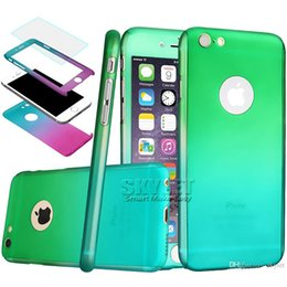 Wholesale Exclusive Cases - Skylet Fashion Style Case For Iphone 6 plus 360 Degree Full Screen Protector Colorful Exclusive Tempered Glass For Iphone 6s Case Retail Box