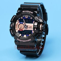 Wholesale Gba Box - With Original Box Bags Mens g g400 sports watches gba 400 multifunction shock watch LED Runner ga110