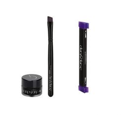 Wholesale Stamps Stencil - Vamp stamp gel eyeliner eye shadows seals beauty Winged Liner set makeup tools Stencils eye liner ink Newest Fashion Hot Selling