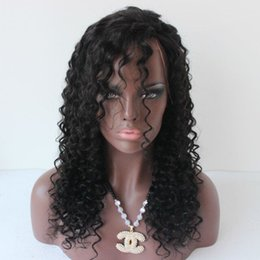 Wholesale Cheap Human Hair Afro Wigs - Curly Lace Wigs Malaysian Human Hair Wig Full Lace or Lace Front Curly Cheap Long with Bleached Knots Baby Hair