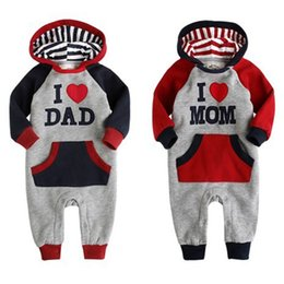 Wholesale i love clothes baby - AbaoDo I love Dad & Mom baby rompers autumn long sleeve infants bodysuit fashion design kids clothing wear