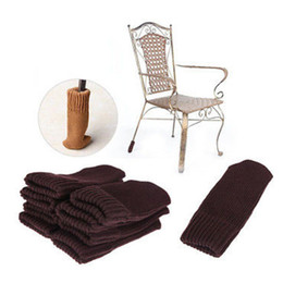 Wholesale Floor Cushion Pads - Wholesale- New 4PCS Chair Table Leg Knitting Wool Cover Pad Anti-Slip Sock Floor Protector Foot Sleeve Edge Corner Guard Supply