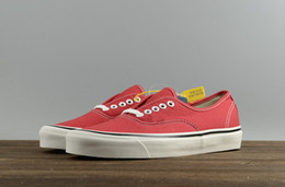 Wholesale High Help Canvas Shoes - Trendy new VAN high to help men's casual shoes classic pattern blue red Canvas Shoes Mens Sneakers Skateboarding Shoes