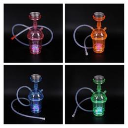 bongo iluminado Desconto Fumar Dogo 2018 New Arrivals Colorido Mini Copo De Café De Plástico Hookahs Shisha Bongos de Água Bongos de Fumar Portátil com Luz LED PH-001