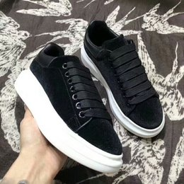 Wholesale Stoned Shoes - Hot Brand Women Casual Wedges Platform High Top Sneakers White  black Stone Pattern Within the higher Shoes Double iron Zipper Lace up