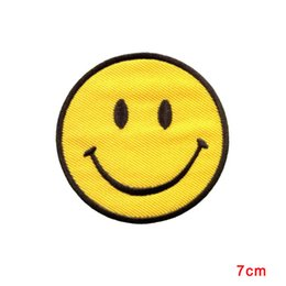 Wholesale boho hippie clothes - NEW ARRIVAL Smiley face retro boho hippie 70s fun smile patch applique iron-on CLOTHING