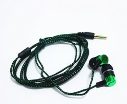 Wholesale Cheap Headphones Bass - Cheap Studios Headphones Braided Colorful Ear Phones Bass MP3 for iPhone Android Cellphone and Computer Without Volume Control