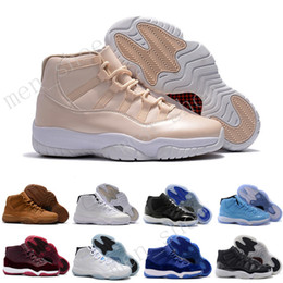 Wholesale best silk - Best 2017 11 bred concord Space Legend gamma blue XI men basketball shoes sneakers 11 Outdoor sports shoes Eur 36-47 5.5-13