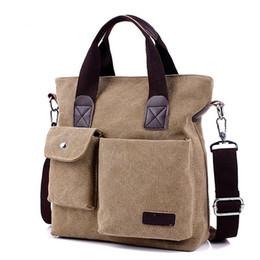 Wholesale Briefcase Portfolio Woman - Men Handbag Shoulder Bag Corssbody Computer Interlayer Portfolio Briefcase Quality Solid Canvas Classic Desinger Business Tote Bolsas