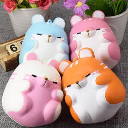 Wholesale Home Decoration For Kids - 20PCS Besegad Cute Kawaii Soft Squishy Colorful Simulation Hamster Toy Slow Rising for Relieves Stress Anxiety Home Decoration