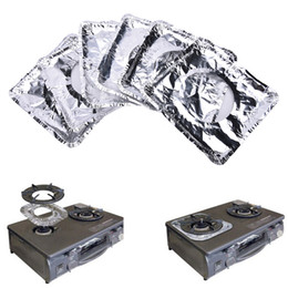 Wholesale- Reusable Gas Hob Oil Protector Liner Gas Stove Burner Cover Mat Pad Safe Dishwasher Kitchen Home Cooker Cleaning Supply 10PCS cheap safe clean от Поставщики безопасная чистка