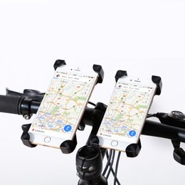 Wholesale Mobile Phone Motorcycle Stand Holder - Universal Bicycle Bike motorcycle, electric vehicle Phone Holder Handlebar Clip Stand Mount Bracket For Smart Mobile Cellphone