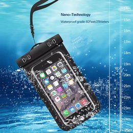 Wholesale Dry Case Phone - Waterproof Case for iPhone X 8 7 6S Plus Dry Bag for Samsung Note8 S8 S7 Universal WaterProof Phone Case for Diving Swimming