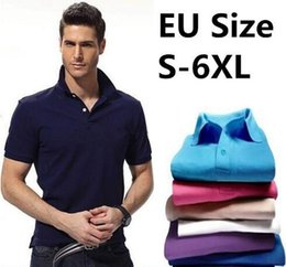 Wholesale Short Plus Size For Man - 2017 New Brand Men Polo Shirt Mens Solid Polo homme Casual Short sleeve Tops for Man Full High quality embroidery Cotton Plus Size