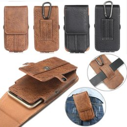 Wholesale Iphone Belt Loop Cases - Universal PU Leather Case Cover Pouch Bag Belt Clip Loop Holster Card Slot Phone DH1700081