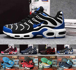 Wholesale Lace Material Shoes - 2017 TN Air Shoes Men High Quality Running Shoes TN Nanotechnology KPU Material Classical Durable Air Sport Sneakers Size 36-47