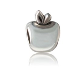 Fit Pandora Charm Pulsera Europea Charms Silver Beads Silver Apple Beads DIY Serpiente de la cadena para mujeres Collar de la joyería de la pulsera desde fabricantes