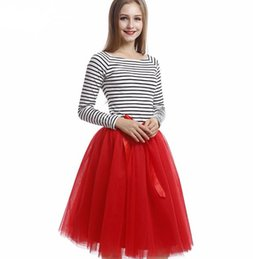 Wholesale Skirts Formal Dance - red woman skirt wedding bride bridesmaid skirt custom leisure formal occasion worker dancing dinner party skirt