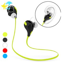 Wholesale Wholesales Run - For Iphone In-ear Bluetooth Headphone QY7 Bluetooth 4.1 Stereo Earphone Fashion Sport Running Headsets Studio Music Earphone With Retail Box