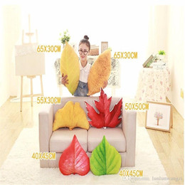 Wholesale Kids Flower Pillow - Cotton Leaves Pillow Kid Plush Toys Tree Maple Leaves Cushion Cute Doll Special Birthday Christmas Gift