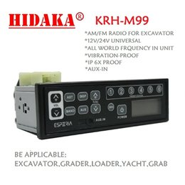 Wholesale radio jacks - Wholesale-Hidaka KRH-M99 EXCAVATOR Radio Real Time Clock Aux-in jack 12V 24V 1din for Kobelco Komastu Hitachi Plant Hire Mount Machinery