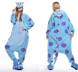 Wholesale Cheap Suit Pajamas - Funny Sulley Kigurumi Pajamas Animal Suits Cosplay Outfit Halloween Costume Adult Garment Cartoon Jumpsuits Unisex Cheap Animal Sleepwear