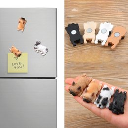 Wholesale Dog Magnets Wholesale - Cute Small French Bulldogs Magnets Sleeping Series Chai Dog DIY Doll Magnetic Stickers Cartoon Mini Toys Doll For Fridge Decoration Hobbies