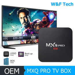 Wholesale android player - Hot MX2 MXQ PRO Amlogic S905W Quad Core Android 7.1 TV BOX With Customized 17.6 4K Media Player