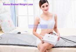 Wholesale Infrared Blanket Therapy - Quick effect 2 Zone Infrared Sauna Blanket FIR Far infrared Slimming heating SPA Therapy PORTABLE WEIGHT LOSS DETOX machine