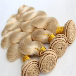 "Wholesale 32 Inches Hair - Grade 6A 613 blonde virgin hair Brazilian straight hair weave 3pcs lot 8""-32"" inch human hair extension"