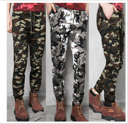 Wholesale Military Overall Uniform - free shipping New outdoor uniforms   overalls   men and women military camouflage trousers, Korean Slim pants, Harlan bundle pants