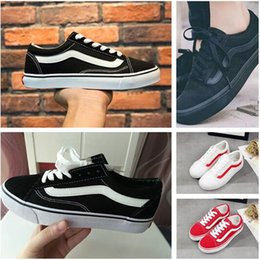 Wholesale Van Wholesalers - 2018 Hot sell Big Kids Boys and girls old skool Canvas casual shoes sneakers shoes casual Flats zapatillas trainers Van