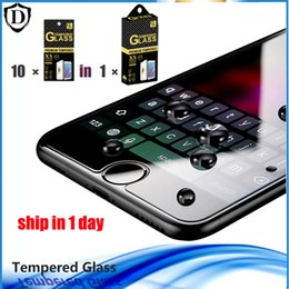 Wholesale Iphone 5c Tempered Glass - For iPhone X 8 7 6S Plus 5 SE 5C Top Quality Tempered Glass Film Clear Screen Protector 0.26MM 2.5D in box