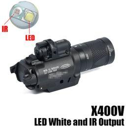 taktische rote led-taschenlampe Rabatt NEUE SF X400V-IR Taschenlampe Tactical Gun Light LED Weiß und IR-Ausgang mit rotem Laser-Schwarz