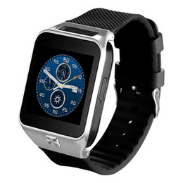 Wholesale Google Phone Calls - GW06 Android mobile phone smart watches MTK6572 Dual-core with SIM card camera GPS Wifi WCDMA pedometer bluetooth google play store whatsapp
