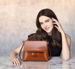 Wholesale Genuine Leather Designer Hand Bags - Fashion Designer Handbags Women Singles Shoulder Bags Hand Messenger Bags Genuine Leather Crossbody Bags Tote Brnad Korean Ladies Hnadbags