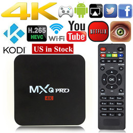 Wholesale Media Stream - MXQ Pro 4K Amlogic S905X S905W Rockchip RK3229 Quad Core Android 6.0 7.1 Kd 16.1 17.4 Streaming Media Player Android Tv Box DHL